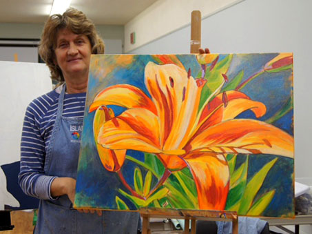 Susan with Sask. Tiger Lily